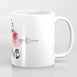 Be Brave Tribal Floral Watercolor Arrow Coffee Mug