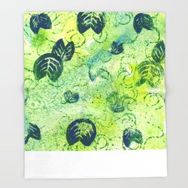 Lily Pad Textile 2 Throw Blanket