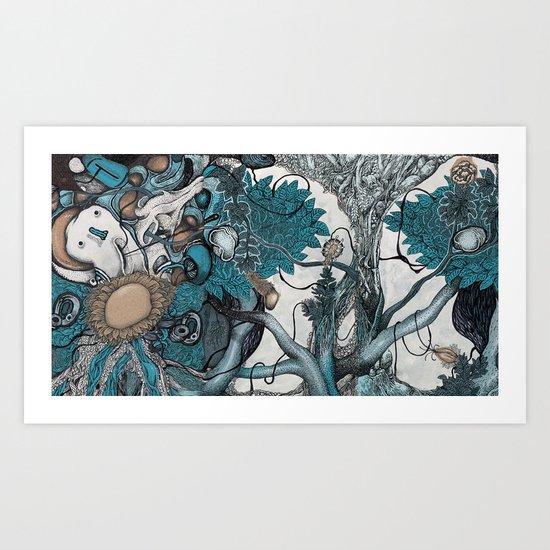 Abstract Jungle Art Print