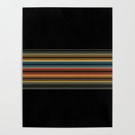 Vibrant Bold Stripes Poster