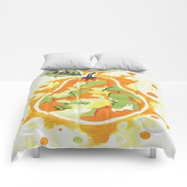Abstract Pear Comforters