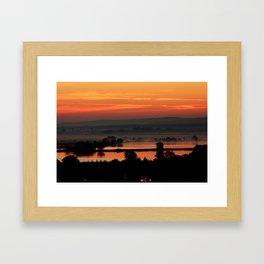 Hazy Sunset Framed Art Print