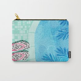 Go Time - resort palm springs poolside oasis swimming athlete vacation topical island summer fun Carry-All Pouch