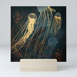 Metallic Jellyfish Mini Art Print
