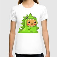 8bit T-shirts featuring 8bit Dinobear by Bear Picnic
