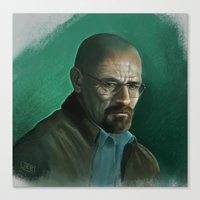 walter white Canvas Prints featuring Walter White by J.R. Barker