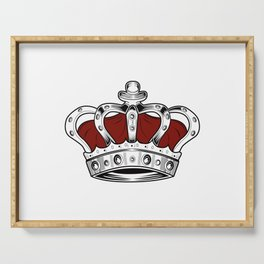 Crown - Red Serving Tray
