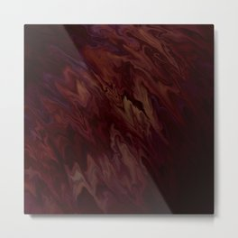Spilled Wine Liquified Satin Metal Print