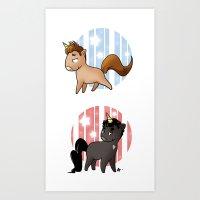 unicorns Art Prints featuring Unicorns by Sunshunes