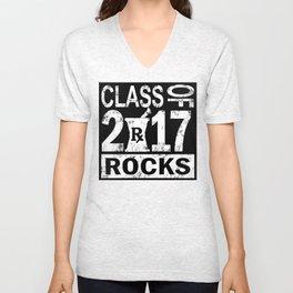 Class of 2017 Rocks T-shirt Unisex V-Neck