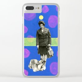 Eva With Collie, The Magic Dog Clear iPhone Case