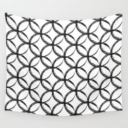 Brushed Circles Wall Tapestry