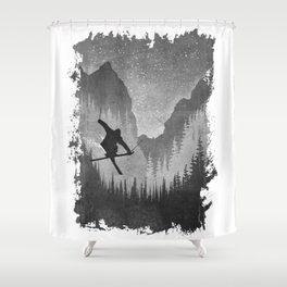 Mountains Ride Shower Curtain