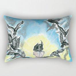 blackbird Rectangular Pillow