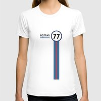 f1 T-shirts featuring F1 2015 - #77 Bottas by MS80 Design