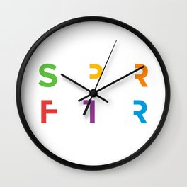 SPRFTR Rainbow Graphic Wall Clock