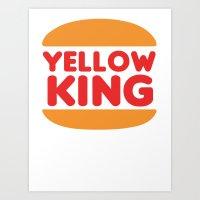 True Detective Yellow King Logo 2 Art Print