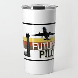 Future Airplane Pilot Travel Mug