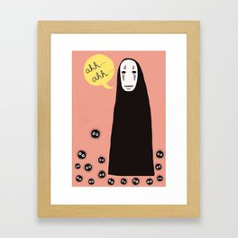 Spirited Away No Face Ahh..Ahh... Framed Art Print