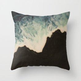 Black Sand Dreams Throw Pillow