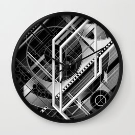 J.Series.127.BW Wall Clock