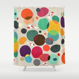 Lotus in koi pond Shower Curtain