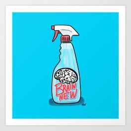 Society6 / Brain New Cleaner Art Print