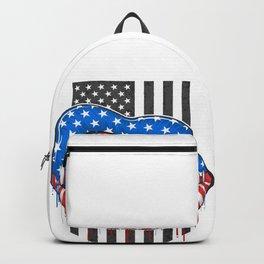 American Lips Flag Backpack