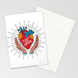 Tu Lucha Es Mi Lucha (Open Hands) Stationery Cards