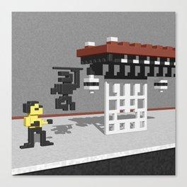 BruceLee Commodore 64 game tribute Canvas Print