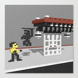 BruceLee Commodore 64 game tribute Canvas Print