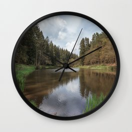 Spring at Soudley Ponds Wall Clock