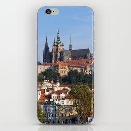 Old town and Prague castle iPhone Skin