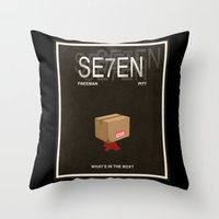 movie poster Throw Pillows featuring Seven Movie Poster by Finlay McNevin
