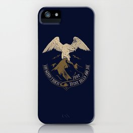 You weren't born just t pay bills and die. iPhone Case