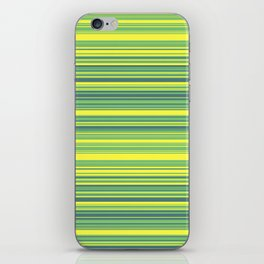 Yellow Lime Candy Lines iPhone Skin
