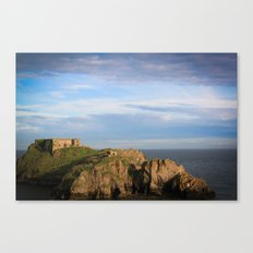 Castle out at sea. Canvas Print