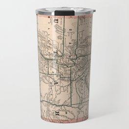 Vintage Map of Utah (1883) Travel Mug