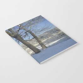 December Snow Delaware River View Notebook