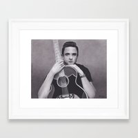 johnny cash Framed Art Prints featuring Johnny Cash by Brittni DeWeese
