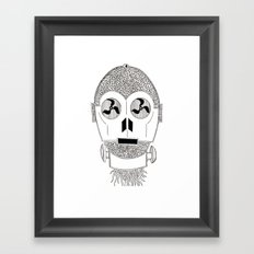 Celtic C3Po Framed Art Print
