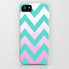 TEAL CHEVRON PINK FADE Slim Case iPhone (5, 5s)