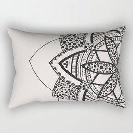Almost black on white mandala Rectangular Pillow