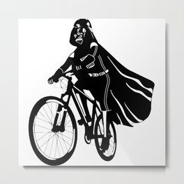 Darth Vader bicycle Metal Print
