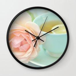 Tea Rose Wall Clock