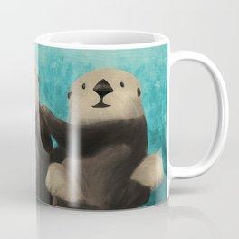 Sea Otters in Love Coffee Mug
