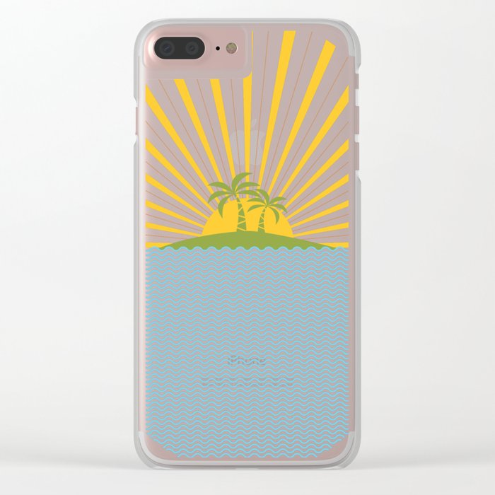 Summer Sun Clear iPhone Case