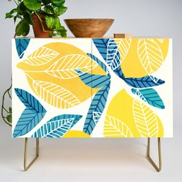 Lemon Tree / Abstract Fruit Art Credenza
