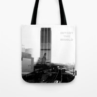 atlanta Tote Bags featuring Rebirth Atlanta by Invert The World