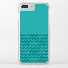Chevron 64 Clear iPhone Case